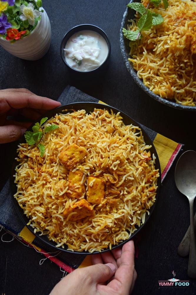 Hyderabad Style Paneer Biryani