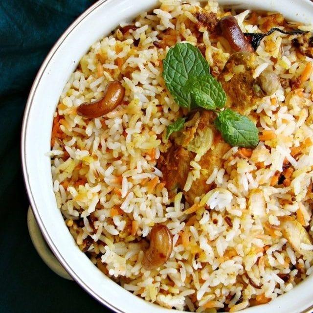 Hyderabad Kacchi Chicken Dum Biryani